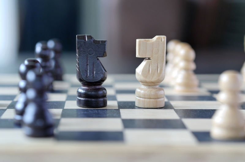 chess Challenge Checked Pattern Chess Chess Board Chess Piece Close-up Day Indoors  King - Chess Piece Knight - Chess Piece Leisure Games No People Pawn - Chess Piece Queen - Chess Piece Strategy