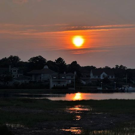 Sunset Summer Newjersey Fireinthesky Homes Manasquan Clouds Lighting Red Sun Travel Water Ocean Shore Shoot2kill Nikonnofilter Packandgo Nikon D3300 Smog Nature
