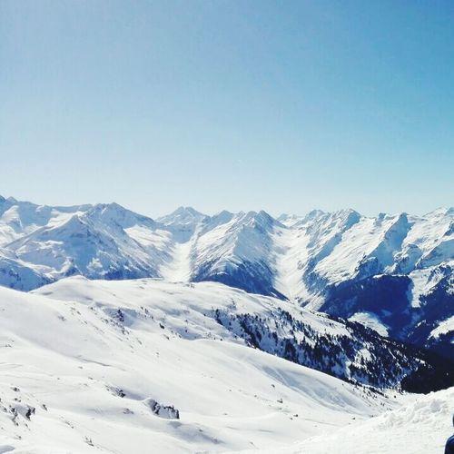 Snow Mountains Winter Wonderland Wintersports Alpen Alps Sky Blue