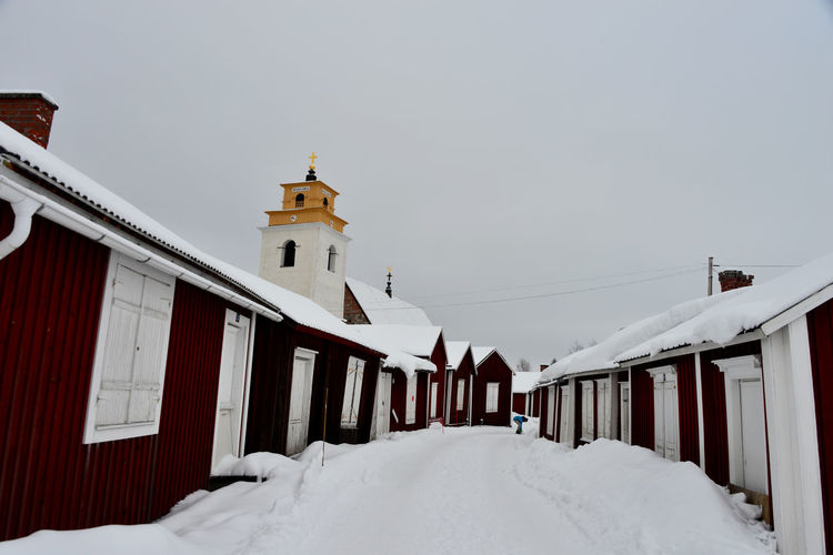 Architecture Church Village No People Outdoors Religion Snow Snowing Village Winter