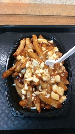 And this is what we call Poutine in Canada :) Poutine Poutine Montreal Food Foodporn Food Binge Canada Montréal Quebec MTL