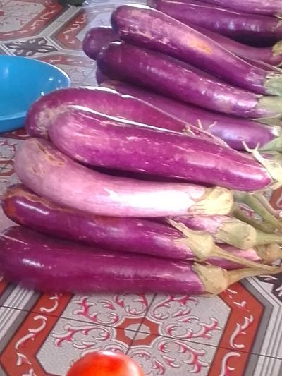 Purple Aubergines Freshness Green Color Food And Drink Eggplants Vegetable Vegetable Market Food No People Healthy Eating Close-up Day Delicious ♡ DeliciousFood  Local Food Local People Fiji Farmers Market Farmers Bundles Heapof