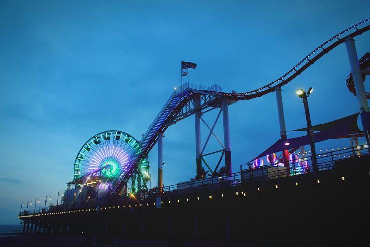 Amusement Park Ferris Wheel Rollercoaster Santa Monica Pacific Park Pier Beach Fun Night Live For The Story Place Of Heart The Street Photographer - 2017 EyeEm Awards
