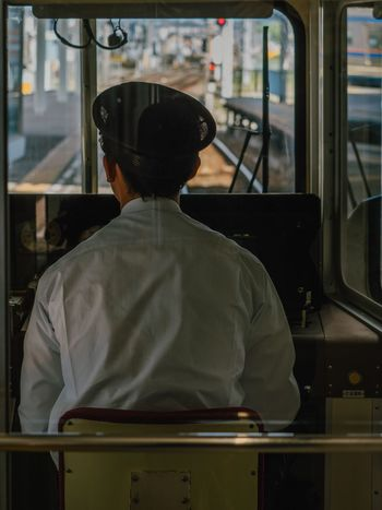 日常 Train Photo EyeEm Best Shots Olympus Travel Photography Japan Transportation Vehicle Interior Rear View Public Transportation Train - Vehicle Real People Mode Of Transport