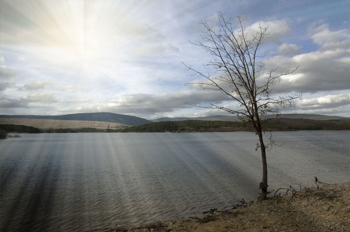 Nature Soria Lake Landscape Sunset Water