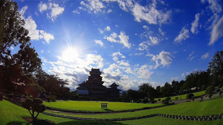 Castle Sky And Clouds Blue Gleen Matsumoto Silhouette National Treasure BlueAlbum