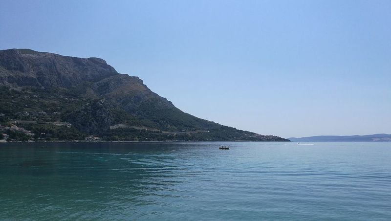 Mountain Water Nature Beauty In Nature Sea And Sky Scenics Sky Day Adriatic Sea Omis Croatia Travel Destinations Outdoors Landscape Omis
