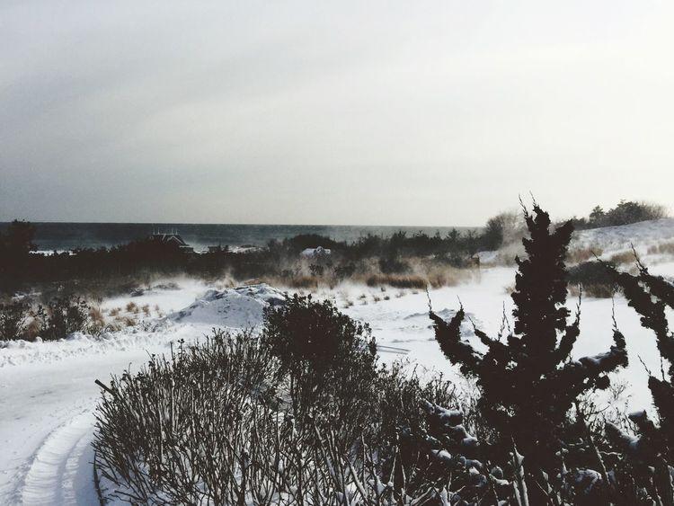 Winter Beach Cold Storm Rhode Island Watch Hill
