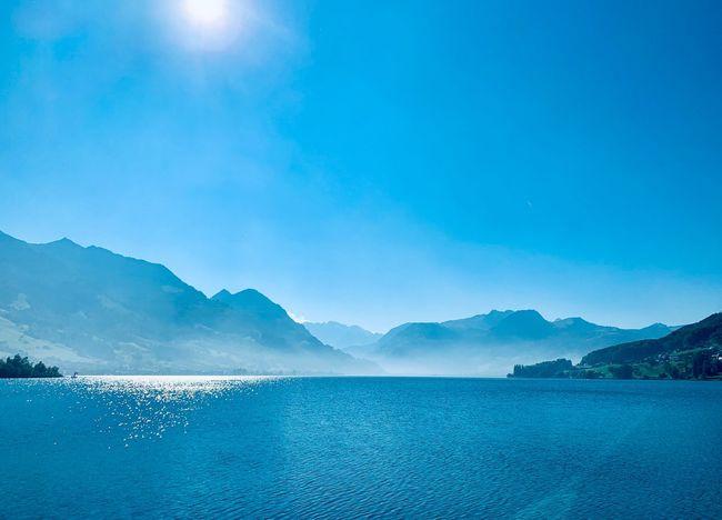 Water Mountain Sky Scenics - Nature Beauty In Nature Nature Sea