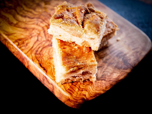 Ciccioli Baked Bread Breakfast Brown Close-up Focaccia Bread Focus On Foreground Food Food And Drink French Food Freshness Healthy Eating High Angle View Indoors  No People Ready-to-eat Selective Focus Serving Size SLICE Snack Still Life Table Wellbeing Wood - Material