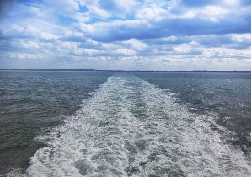 Wash Ferry Crossing Horizon Horizon Over Water Seascape Sea And Sky Sea Ferry Outdoor Photography Water Outdoors Sea Crossing Blue Long Goodbye