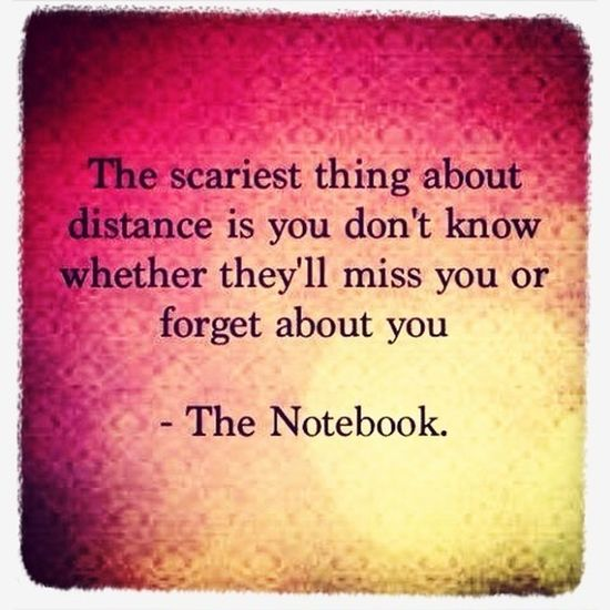Distances hurts more when the person you care for isn't near you!!):