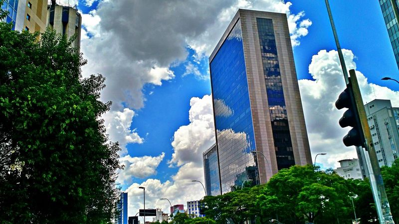 Have you already observed the Sky and the Buildings today? | Saopaulo Brazil Blue
