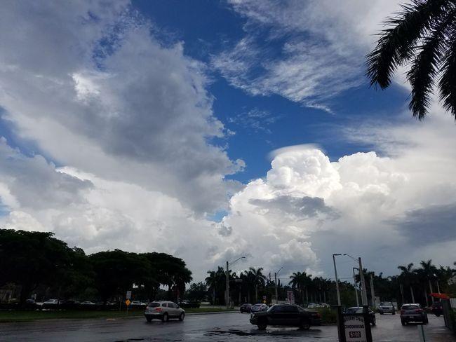 Blue Tree City Water Oil Pump Tornado Storm Cloud Sky Cloud - Sky First Eyeem Photo