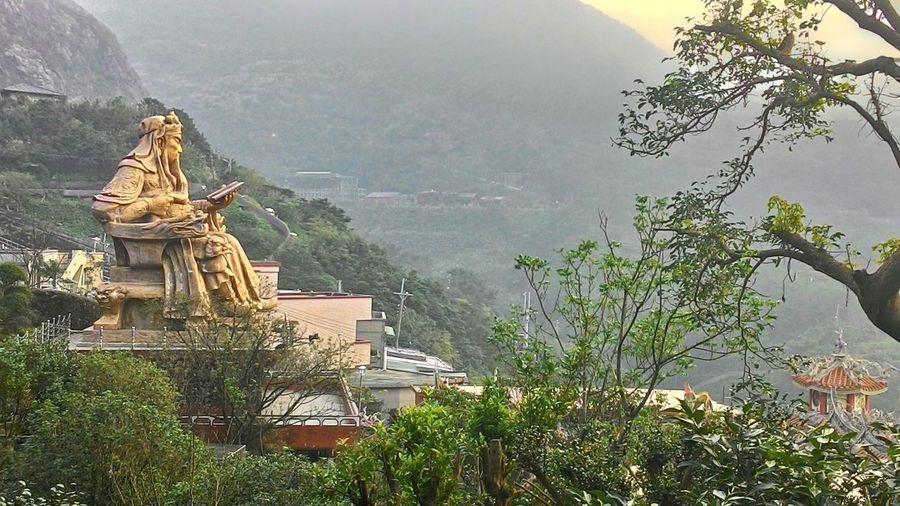 Chinese God 金瓜石 nature Scuplture Landscape god Cooper peace Peace ArtWork Guangong 關公 關公
