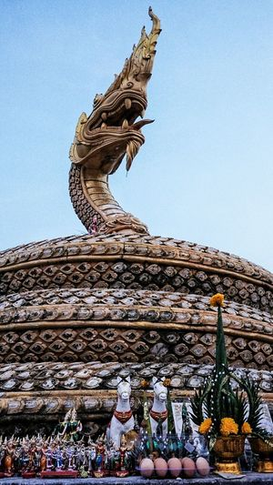 Naga Southeast Asia ASIA Phuket Thailand Southern Thailand Sky Evening Neighborhood Map Statue Sculpture Religion Travel Destinations Spirituality Outdoors No People Day Low Angle View