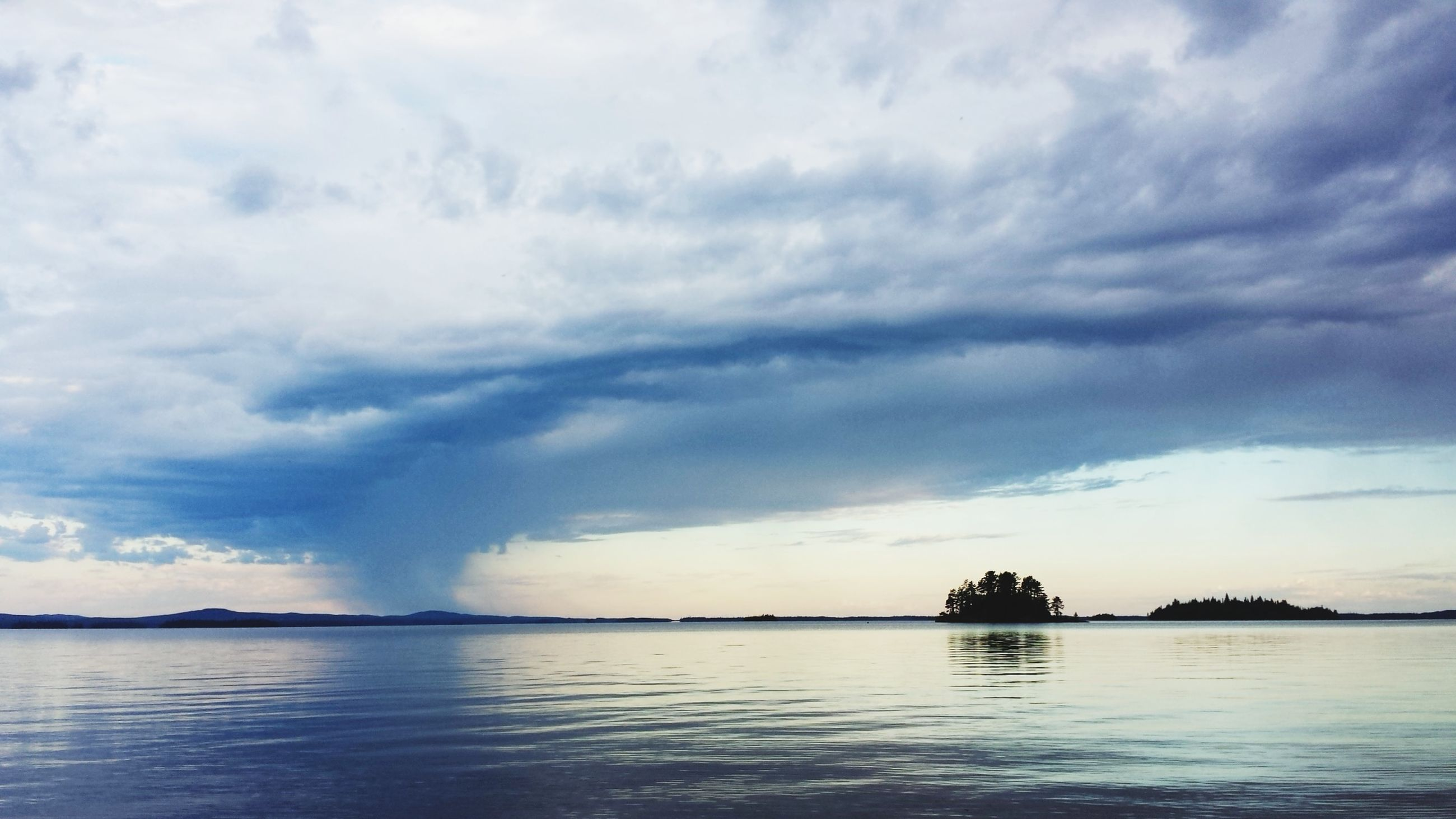 cloud - sky, sky, water, beauty in nature, scenics - nature, tranquility, tranquil scene, waterfront, sea, reflection, no people, nature, sunset, idyllic, silhouette, outdoors, storm