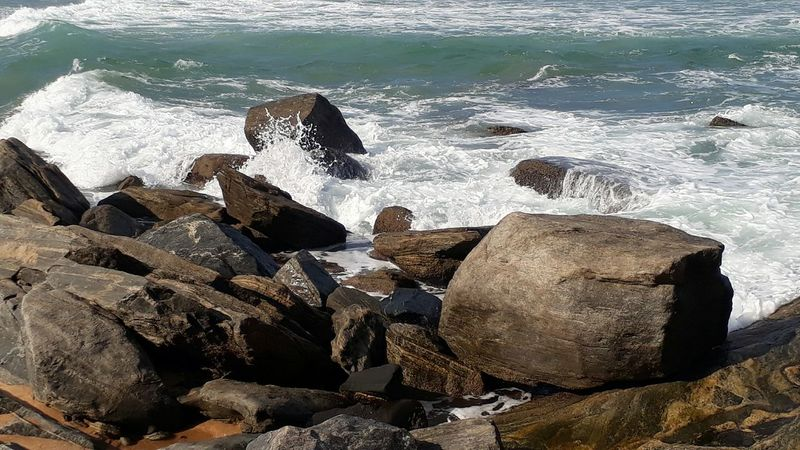 Beach Water Rock - Object Wave Day Nature Outdoors Sunlight Beauty In Nature Sea
