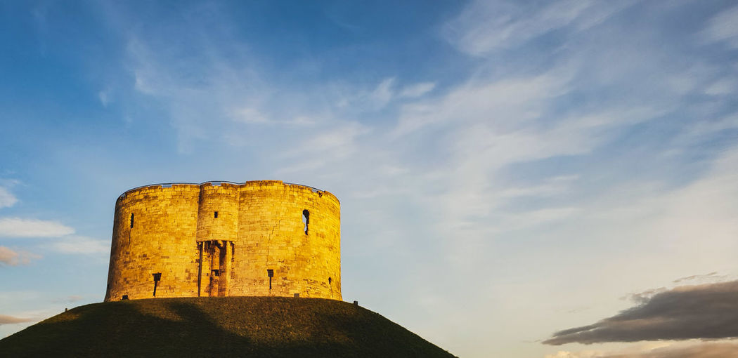 Low Angle View Of Old Fort Against Sky