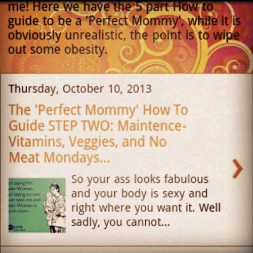 New blog up!! ENJOY!! Mommyblogger Mommaknowsbest Stayfit PerfectMommyHowTo http://mommaknowsbest13.blogspot.com/?m=1