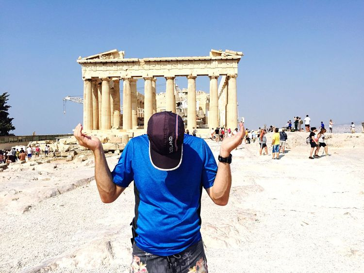 Athens was so gorgeous Real People Tourism Travel Destinations Large Group Of People Vacations Leisure Activity Outdoors Lifestyles Day Blue Built Structure Travel History Architecture Clear Sky Architectural Column Sunlight Men Ancient Old Ruin Daylight Dad Family Travel Vacations Sommergefühle EyeEmNewHere