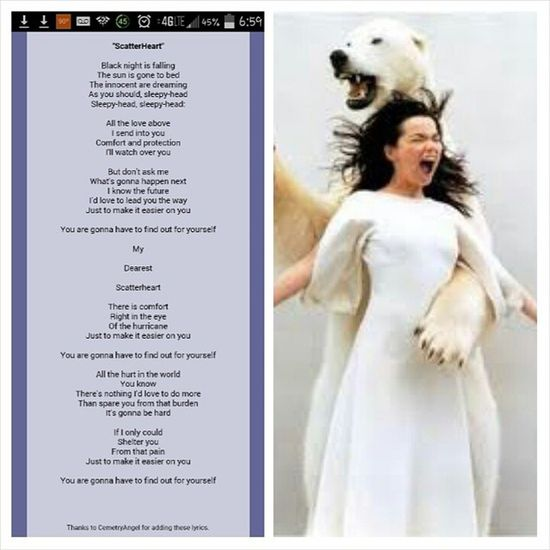 If I had a Themesong to play as I walked in a room, this is probably the one I would pick (of three, all different artists). The lyrics say it all, and Björk is my spirit animal. Tagged by the gorgeous @savage_scavange