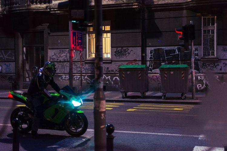 Belgrade Beograd Transportation Street Motorcycle Night City Steet Streetphotography Colorful Colors The Street Photographer - 2017 EyeEm Awards