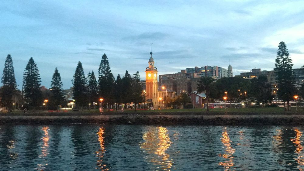 The beauty of Newcastle Eye4photography  EyeEm Gallery Reflection Enjoying The View Enjoying Life Cruising Newcastle NSW, Australia Travel Destinations Travel Photography Building Exterior Architecture Built Structure Sky Tower Cloud - Sky Building Waterfront Illuminated