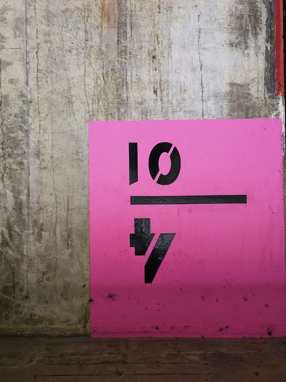 communication, wall - building feature, number, text, pink color, sign, no people, western script, close-up, day, built structure, outdoors, architecture, wall, capital letter, guidance, wood - material, black color, purple