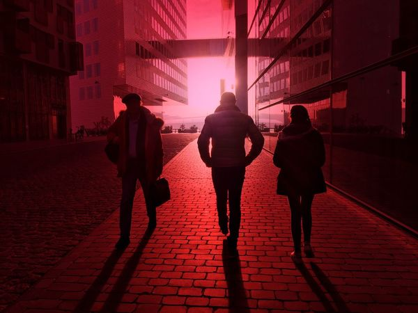 Finding New Frontiers Silhouette City EyeEm Best Edits Telling Stories Differtenly From My Point Of View Eyeemphotography Eye4photography  EyeEm First Eyeem Photo Light Redlight EyeEm Best Shots Creative Light And Shadow Capture The Moment Vibrant Color Light And Shadow Taking Photos Hello World Urban Exploration Reflection Streetphotography Sunset Portrait City Life
