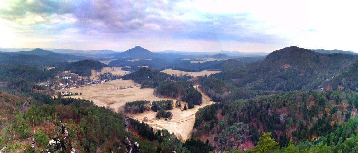 Mountain Panoramic Mountain Range Outdoors High Angle View Landscape Beauty In Nature Lush Foliage Cloud - Sky Mountain Peak Water Shotoftheday Czech Photos Tranquil Scene EyeEm Best Edits EyeEm Masterclass Eyeem Photography Eyemphotography Czech Republic Eyem Gallery Bestoftheday EyeEm Best Shots - Landscape EyeEmBestPics Scenics České Středohoří