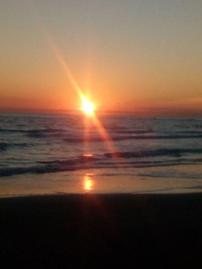 Alba Montesilvano Marina Wave Water Sea Sunset Beach Sunlight Sun Sand Reflection Lens Flare