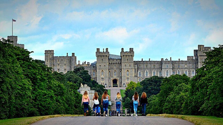 Windsor Castle Architecture Travel Destination Nature Day Tourism History Historical Building Outdoors Castle Park
