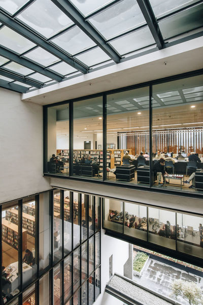 Best library in HK Architecture Atrium Built Structure City Day Environment Indoors  Layers Library Lifestyle Modern Reading Real People The Architect - 2017 EyeEm Awards VOID Warm Light Window