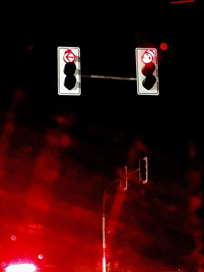 Left right now Make Decision Be Ready On The Way Red Color Traffic Lights Communication Night No People Close-up AI Now! AI Now EyeEmNewHere