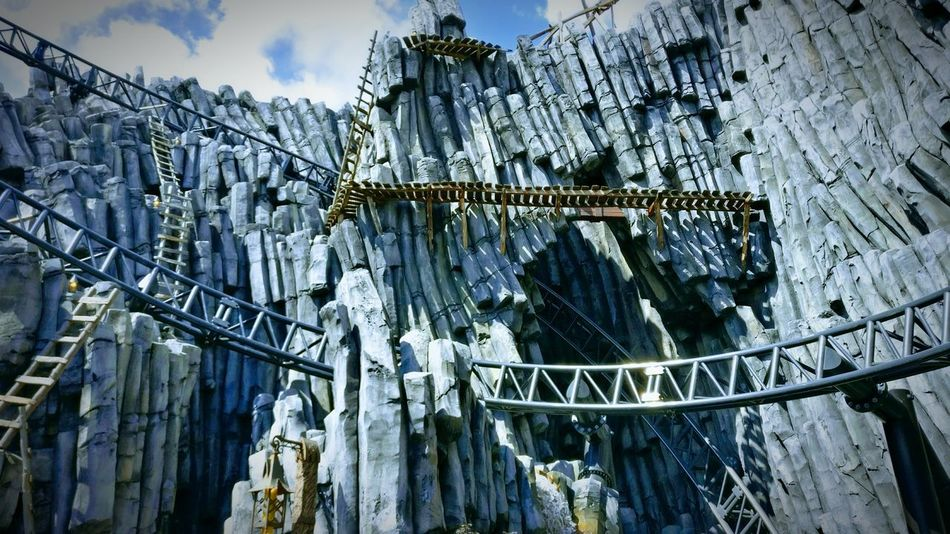 Low Angle View Sky Day Architecture Built Structure No People Phantasialand Theme Park Rollercoaster Mountains Mountains And Sky The Week On EyeEm Done That.