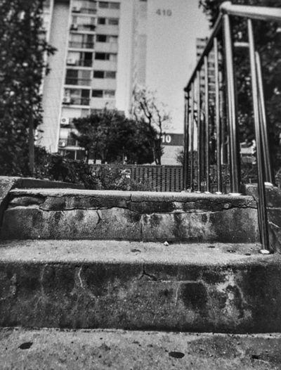 South Korea Middleschool Student Goungju Stair Black 아파트앞 공주시 공주대학교 흑백사진