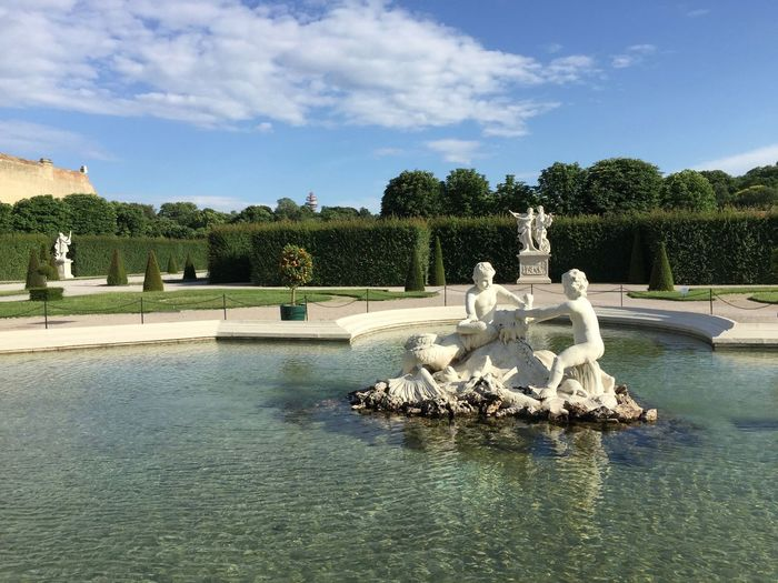 Tourism Travel Travel Destinations Schloss Belvedere Palace Swimming Pool Outdoors Animal Reflection Representation Fountain Statue Cloud - Sky Plant Waterfront Sky Art And Craft Sculpture No People Tree Lake Day Nature Water Habsburg Capital Cities  My Best Photo