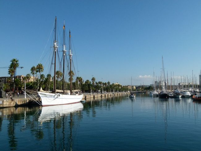 Barcelona Port De Barcelona  SPAIN Harbor Sailboat Sky Water Waterfront