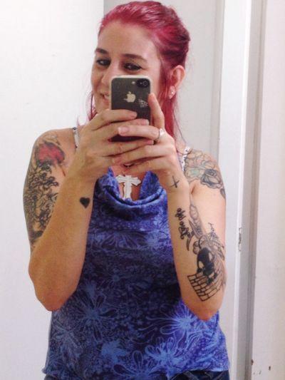 Adorando meu cabelo vermelho paixão