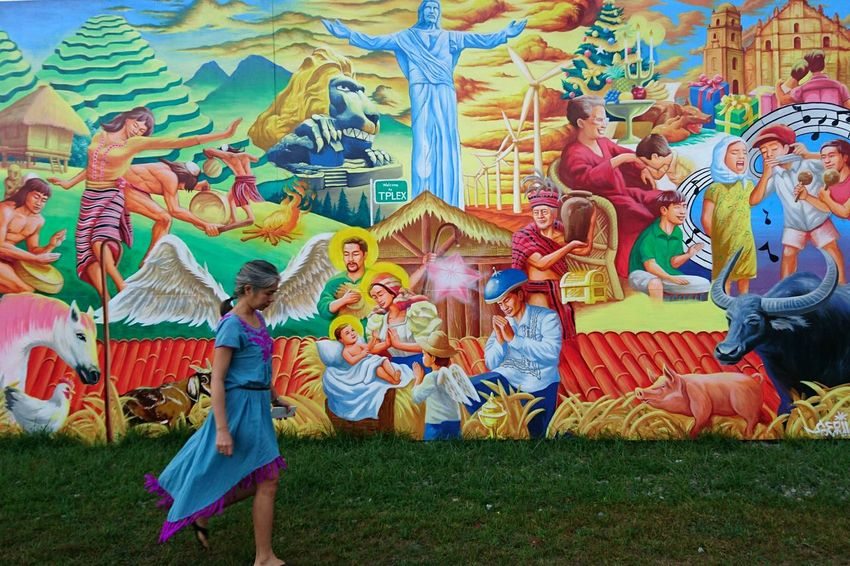 Traveling Home For The Holidays On The Road On The Way Mural Art