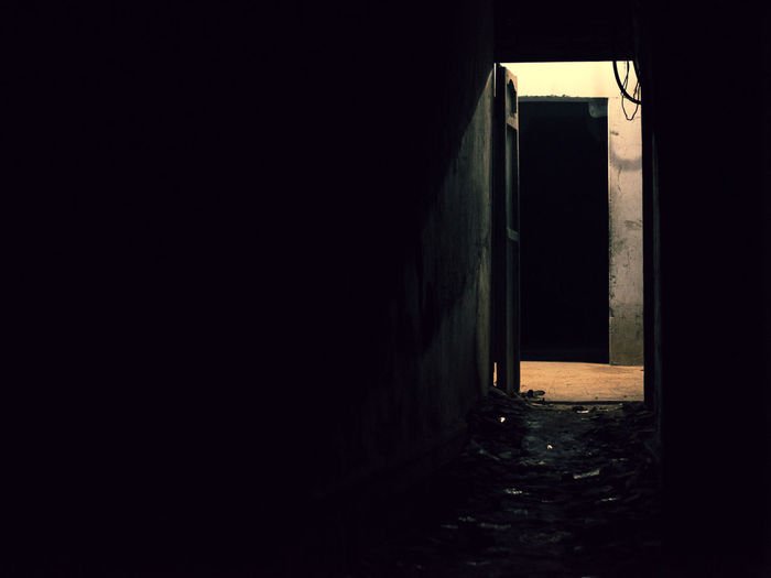 Architecture Entrance Door No People Indoors  Building Tunnel Absence Empty Spooky Light At The End Of The Tunnel Alley