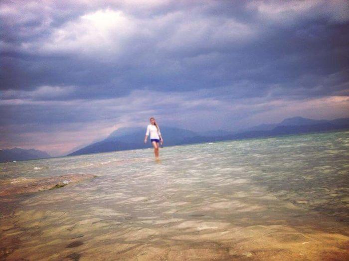 Walk On Water Walking On Water Water Meets The Sky Endless Blue Walking In Heaven Walking In A Dream Dream Dreamy Waterscape Cloudscape Cloud