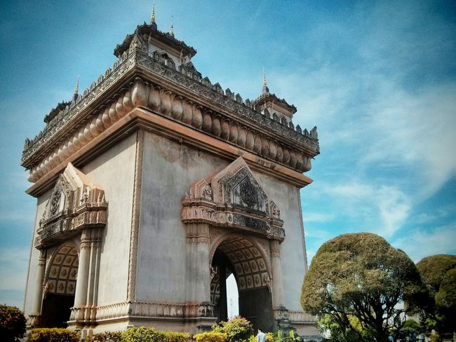 Laos Arc De Triomphe Vientiane Amazing View
