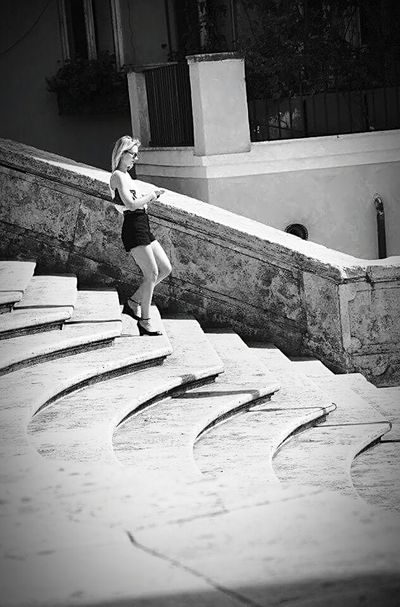 Steps Woman Beauty Black & White Blak And White Piazza Di Spagna Piazzadispagna Life Italy Stairs