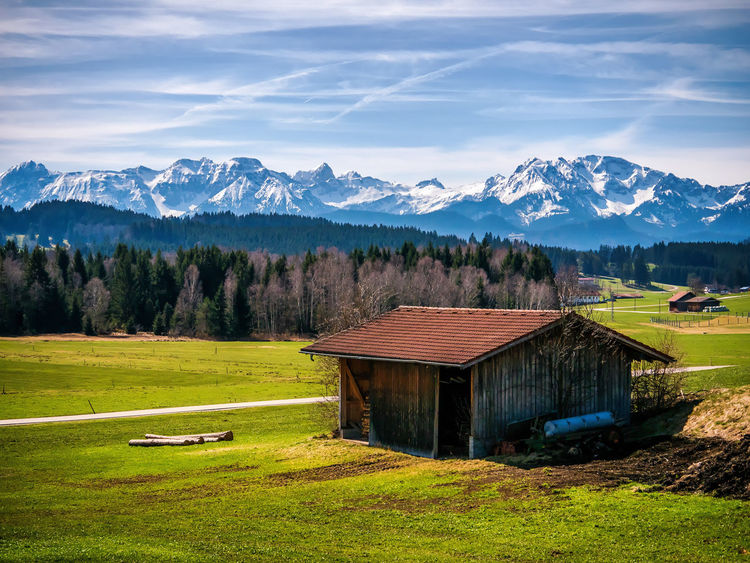 Bergfrühling Allgäu EyeEm Best Shots EyeEm Nature Lover Frühling Landschaft Seeg Beauty In Nature Cottage Füssen Grass Landscape Mountain Mountain Range Nature No People Outdoors Scenics - Nature Sky Voralpenland