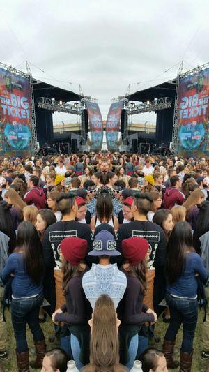 Music Festival Crowd JacksonvilleFL Mirrored