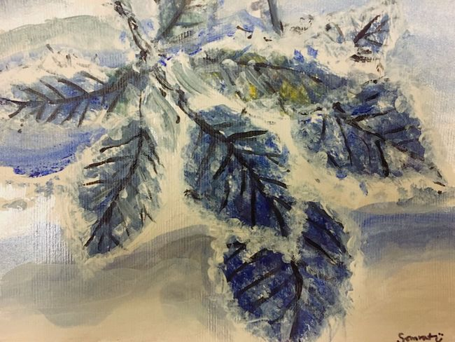 Acrylic Painting My Painting Winter Leaves