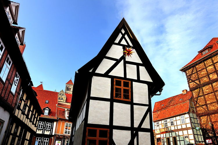 Architecture Building Exterior Built Structure City Day Low Angle View No People Outdoors Quedlinburg Sky Window