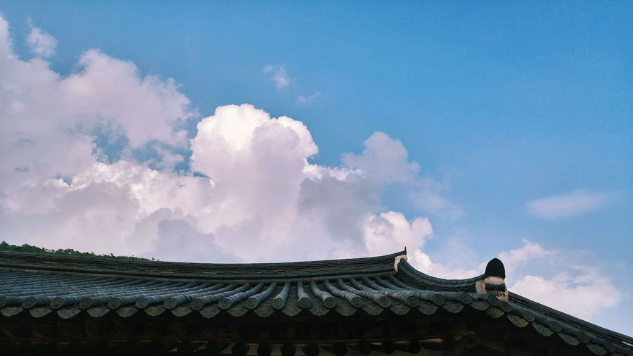 Traditional Roof Of A Korean Temple